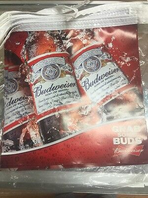 New Budweiser Grab Some Buds String Banner, 20 Flags per String