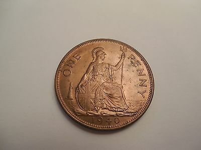 1940 George VI Penny Uncirculated Lustre