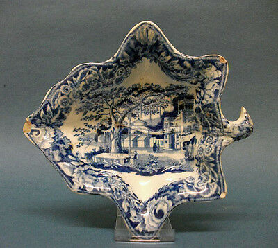 A John and Richard Riley Transfer Printed Pickle Dish, c.1825