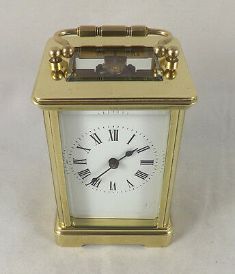 R & Co. Paris Antique 8 Day Brass Carriage Clock - Fully Cleaned & Serviced