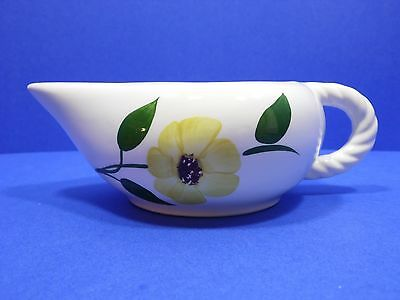 Blue Ridge Pottery Creamer Yellow Flower Unmarked Twisted Handle