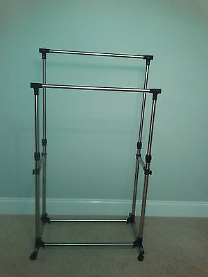New boxed - Clothes Rail - Double heavy duty garment rail - Ideal for car booter