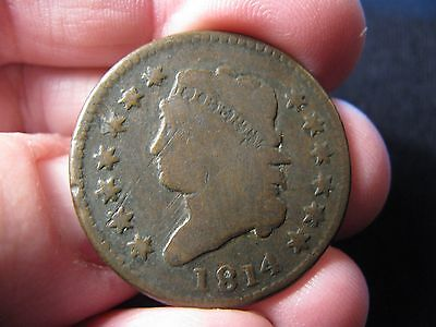 1814 Classic Head Large Cent **good++ Details** S-295 Free Shipping!!