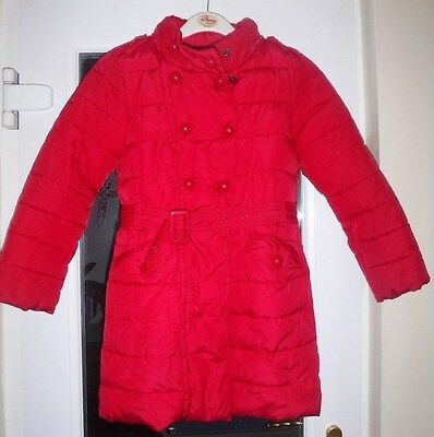 Next part fleece-lined padded coat for girl aged 7-8