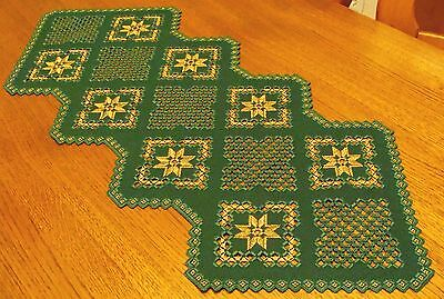 HARDANGER Embroidery - a TABLE RUNNER for Christmas - handmade from Germany
