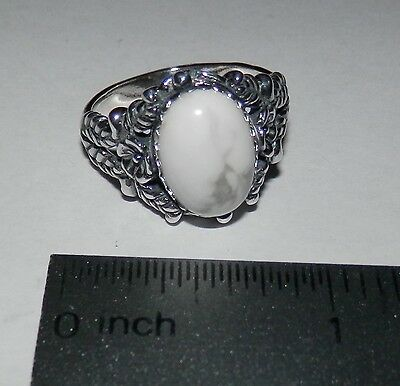 Carolyn Pollack American West White Howlite Sterling Silver Flower Ring 10