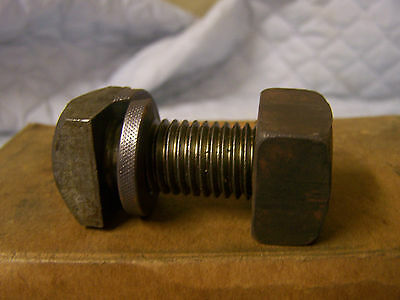 """3/4-10"""" x 2"""" Square Head Machine Bolts w/Square Nuts and Spring Washers  Qty. 10"""