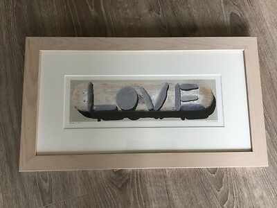 Beach Art Framed And Mounted Love Picture By Susie Ray