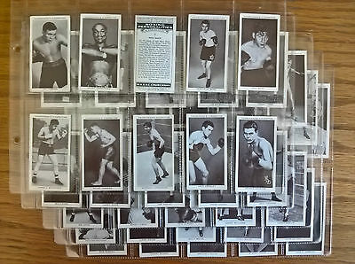 Cigarette cards: Churchman Boxing Personalities complete full set in sleeves