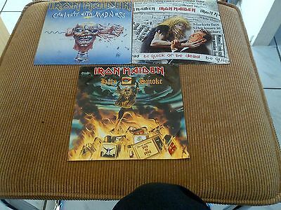 Collection of 3 singles IRON MAIDEN