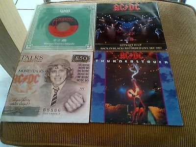 Collection of 4 singles AC/DC