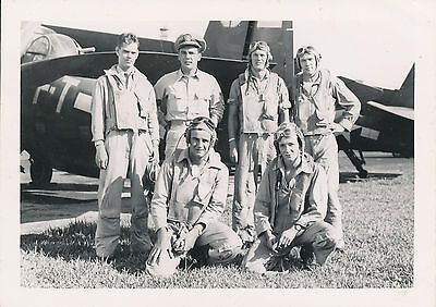 WWII 1940s US Navy aviation cadet's & airplanes photo