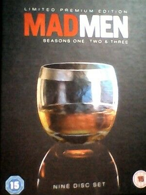 MAD  MEN - series 1  2 & 3  -  9 DVD  BOXED SET premium edition -   new  sealed