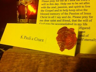 St. Paul of the Cross Passionist Holy Founder Relic Reliquary Pouch + Prayer