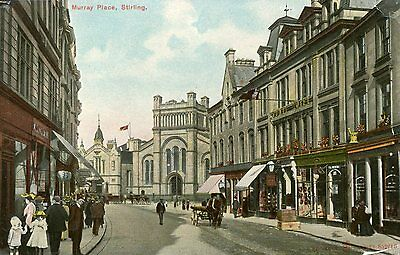 """Central Scotland """"murray Place Stirling"""" Postcard"""