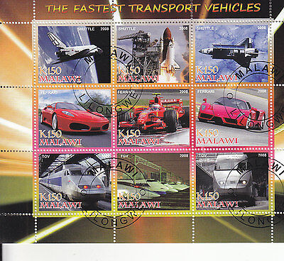 The Fastest Transport Vehicles Sheet Of Stamps