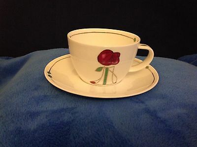 Dunoon,Fine Bone China,Large Cup & Saucer Helensburgh in the style of Mackintosh