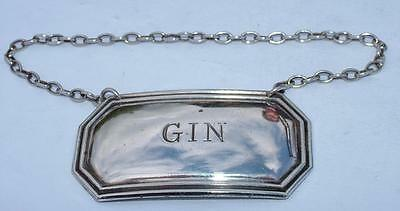 Sterling Silver Hm 1977 Gin Wine Decanter Label By Frances Howard