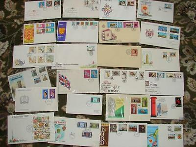 (M29 ) Bundle Channel Islands Mix  First Day  Covers  Look Going Cheap Look