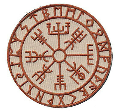 Viking Compass Vegvisir 3.5 Inch  Tactical Morale Hook Loop Patch
