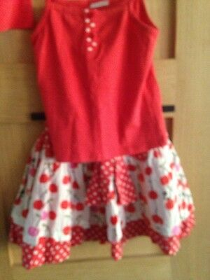 Next Girls Skirt And 2 Vest Tops Outfit Set Size 2-3 Years