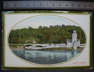 Antique Postcard Lighthouse Firth of Clyde Scotland