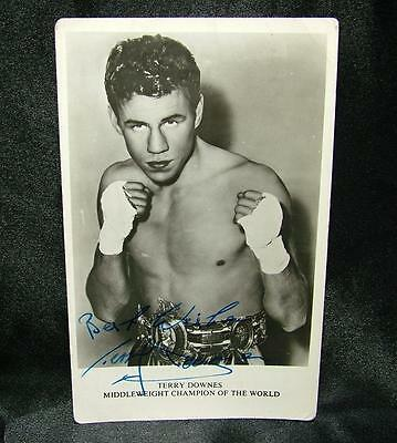 Signed Autographed Boxing Photograph Postcard Terry Downes 1962 - Lot 10