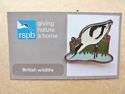 Rspb Pin Badge Avocet In Reeds On Replacement Card