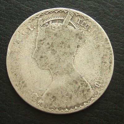 1885 VICTORIA GOTHIC FLORIN : BRITISH .9250 STERLING SILVER COIN ...t43
