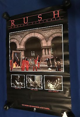 vintage 1981 Rush Moving Pictures LP PROMO POSTER Polygram 22x32in RARE!!