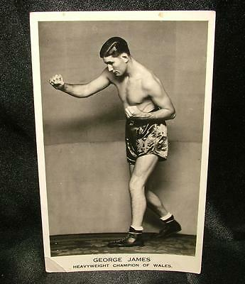 Old Boxing Real Photograph Postcard George James H.weight Champion Wales Lot 41