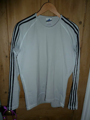 Adidas Men's Long Sleeved Technical Top - Size Large - Grey/Black