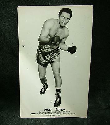 Genuine Signed Autographed Boxing Photograph Peter Longo 1953 M.weight - Lot 53