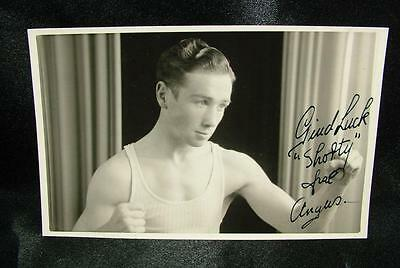 "Genuine Signed Autographed Boxing Photograph ""angus"" Circa 1940 - Lot 54"