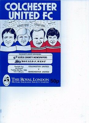 Colchester United v Manchester United 1983/84 Milk Cup Round 3