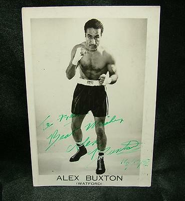 Genuine Signed Autographed Boxing Photograph Alex Buxton H.weight 1951 - Lot 56