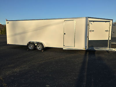 2017 All Aluminum 29' Enclosed SNOWMOBILE/ SIDE BY SIDE 7' x 24 + 5' V