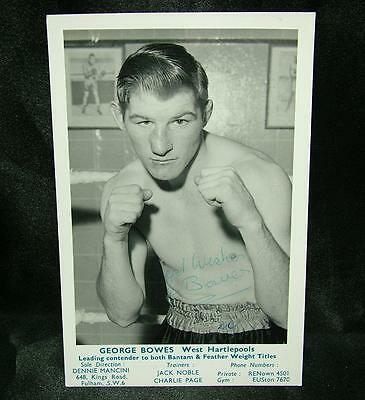 GENUINE SIGNED AUTOGRAPHED BOXING PHOTOGRAPH GEORGE BOWES CIRCA 1950's - LOT 61