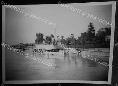 1946 Egypt - Pleasure Steamers at the Delta Barrage  -  Photo 9cm by 6cm