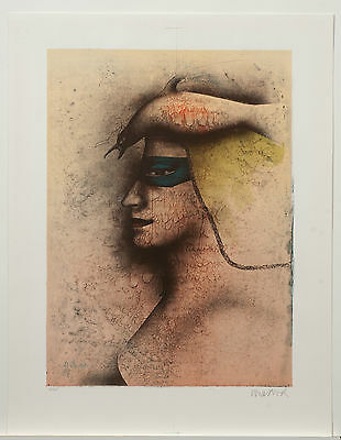 Paul Wunderlich/Farblithographie in fünf Farben/100 Exemplare/AN OVID