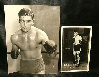 GENUINE SIGNED AUTOGRAPHED BOXING PHOTOGRAPH DAVE McCLEAVE BRITISH CHAMP LOT 80