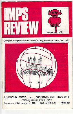 Lincoln City v Doncaster Rovers 1971/72 division 4