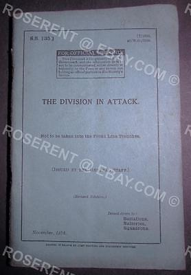 WW1 The Division in Attack -Nov 1918 including Ground /Air Co-operation & Tanks