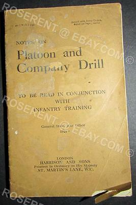WW1 Note's on Platoon & Company Drill - General Staff War office Booklet - 1916