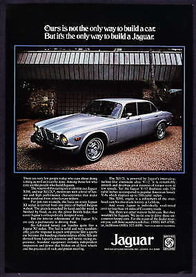 1975 silver Jaguar XJ Sedan photo vintage car print ad