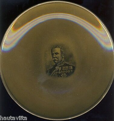 Lord Kitchner General French 1914 Ridgways Porcelain Wall Plates VC WW1 2x Nice