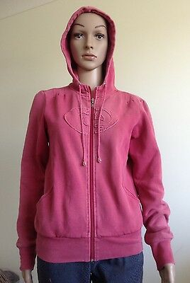 VINTAGE RED 1980s RIP CURL SURF HOODIE, FITS 8-10, COTTON POLYESTER, REAL-RETRO
