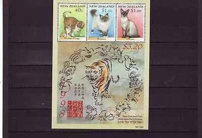 New Zealand - Sgms2139 Mnh 1998 Cats - Year Of The Tiger
