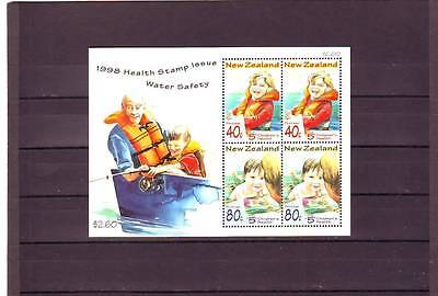 New Zealand - Sgms2180 Mnh 1998 Childrens Heath - Water Safety