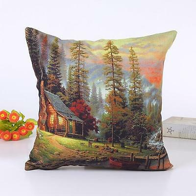 Fashion Landscape pillow Cover Sofa Bed Home Decor Pillow Case Cushion Cover R